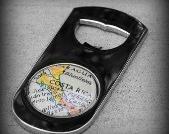 Costa Rica Map Bottle Opener - As Seen in Imbibe Magazine