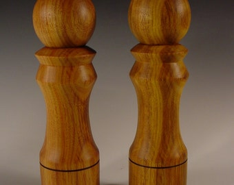 Salt and Pepper Mills made from Canarywood Exotic Wood