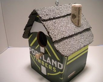Portland Timber License Plate Birdhouse