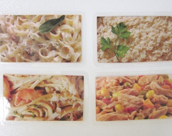Food Photo Magnets, Pasta Magnets, Kitchen Magnets, Foodie Magnet Set, Chefs Magnet Gift, Hostess Gift, Fun Magnets