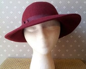 Burgundy Women's Wool Felt Hat