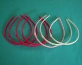 DESTASH - 1/4 inch wide ribbon wrapped headbands