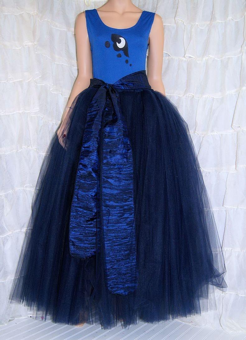MLP Princess Luna 3 Piece Dress Costume Cosplay Adult Medium