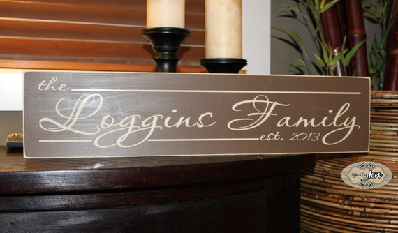 Family Established Sign Personalized Family Name with Established Date - Style FA15