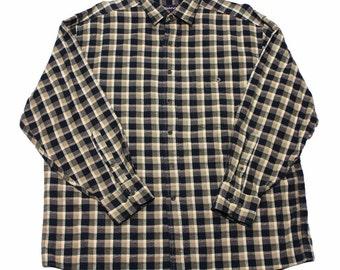 Vintage Gant Plaid Button Up Shirt Mens Size Large