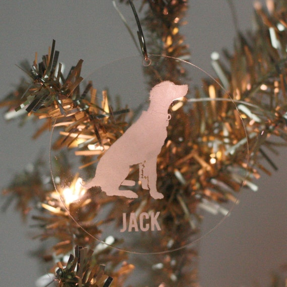 Custom Silhouette Pet Christmas Ornament made from your photo by Simply Silhouettes, Dog Ornament