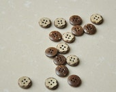 """1/2"""" (13mm)  Two Layers Coconut Flower Buttons"""
