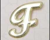 Cursive Letter F Pin monogram