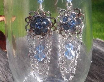 blossom earrings in light blue