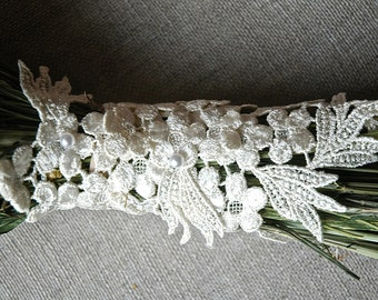 Ivory Lace Applique' for Addition to any Bouquet in my Shop