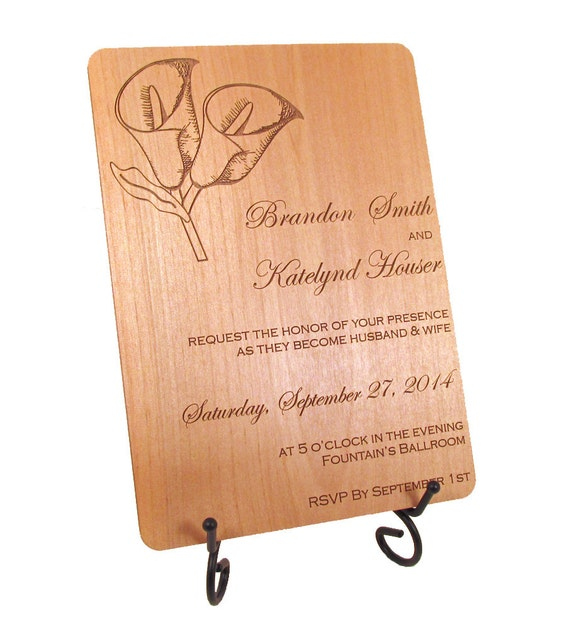 https://www.etsy.com/listing/183151409/wooden-wedding-invitation-calla-lily