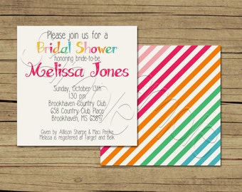 25 5x5 Bright Modern Bridal Shower Invitations