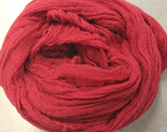 Hand Dyed Cotton Gauze/Scrim/Cheesecloth Scarf - Great for Nuno Felting
