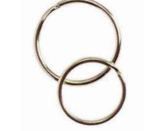 25mm and 30mm Split Key Rings, Key Rings, Brass Plated Key Ring, Assorted Sizes: 25mm, 30mm