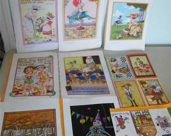 9 Mary Engelbreit Prints Print Postcard Gift Tag Miss Muffet 10211