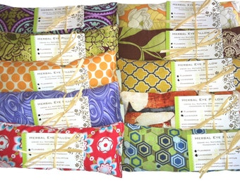 WHOLESALE: 20 Eye Pillows, Individually Packaged, Natural Heating Pad- Spa Events, Party Favors - Flaxseed and Dried Lavender