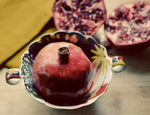 Pomegranate Photograph, Thanksgiving Decor, Autumn Home, Pomegranate ...