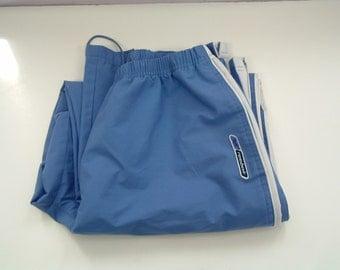 Vintage blue reebok running, track pants