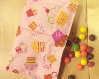 Reusable Snack bag - Pink Cupcake