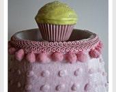 Cupcake Lamp Finial - Kid's Room Decor - Cupcake Decor