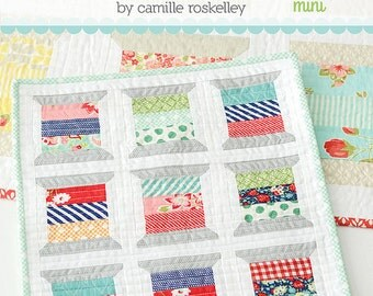 SALE 20% off Quilt Patterns, Thimble Blossoms Spools Mini Quilt Pattern by Camille Roskelley, Thimble Blossoms, Mini Quilt, Gift for Quilter