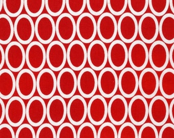 Remix fabric by Anne Kelle for Robert Kaufman- Remix Ovals in Red- You Choose The Cuts