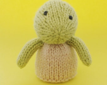 Turtle Toy Knitting Pattern (PDF)  Legs, Egg Cozy & Finger Puppet instructions included