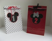 Minnie MIckey favor bags one dozen in this listing