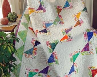 Newport Fantasy Quilt Pattern in 5 sizes PDF #433e