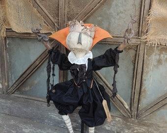Ooak  2014 Halloween Pumpkin Eater Master Midnight