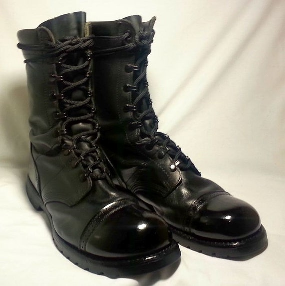 Old School Black Leather Military Combat By Fantasiesinleather