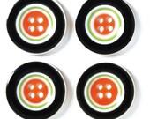 "7/8"" Halloween Striped Buttons"