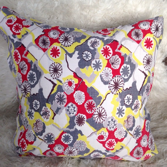 Mid Century Modern Pillow Covers : Mid century modern atomic throw pillow cover