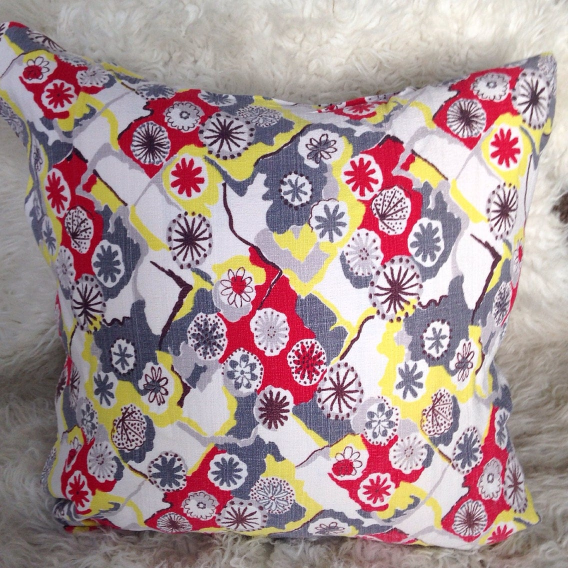 Mid century modern atomic throw pillow cover