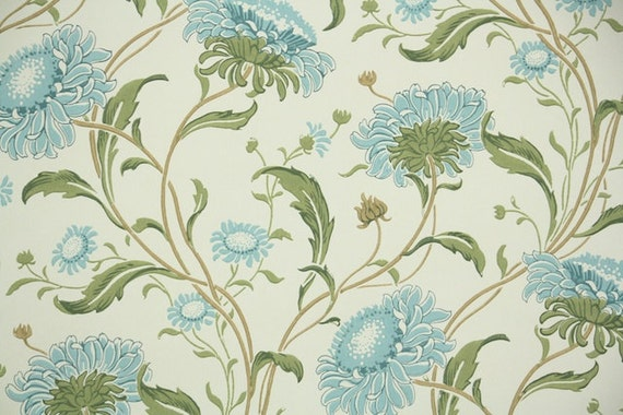 Graue Tapete Mit Sternen : Floral Vintage Wallpaper Reproductions