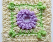 "PDF Crochet Pattern - Hydrangea Shrub - 6"" Square - Instant Download!"