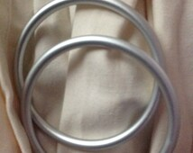 """Pair of Large Silver 3"""" Aluminum Ring to make Your Own Ring Sling"""