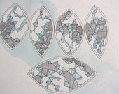 Original Watercolor Painting - Fractalated, Flat Bottom Boats III - Watercolor and Ink