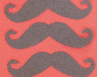 50 Black mustaches, mustache die cut, mustache punch out, scrapbook embellishment, wedding decoration, party supply