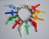 Guns and Crosses Charm Bracelet kitsch punk