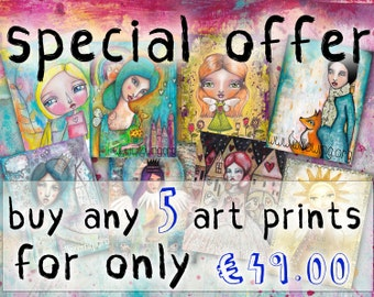 SPECIAL OFFER - Buy 5 Art Prints at a Reduced Price