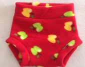 Tossed Apples Anti Pill Diaper Cover