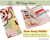 Stow Away Wallet Instant Download Credit Card Organizer(revised sewing pattern)-holds up to 60 Credit Cards and 48 Loyalty Cards