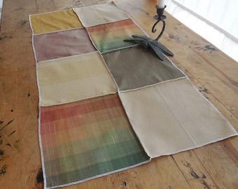 Lovely Cotton Linen Table Runner in Shades of Autumn