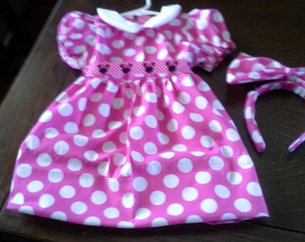 Minnie Mouse dress and hair bow