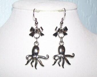 Petite Octopus Earrings