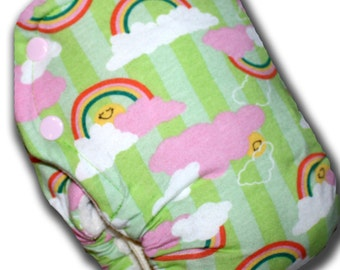 Rainbow Smiles - M/L OBV BedBug Plus Cloth Diaper