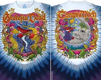 Grateful Dead Dancing Bears Terrapin Moon Tie Dye Short Sleeve Shirt  Size  XL   hippie
