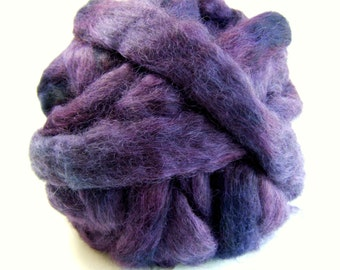 Gotland Dyed Wool Roving 3 Ounces - Midnight