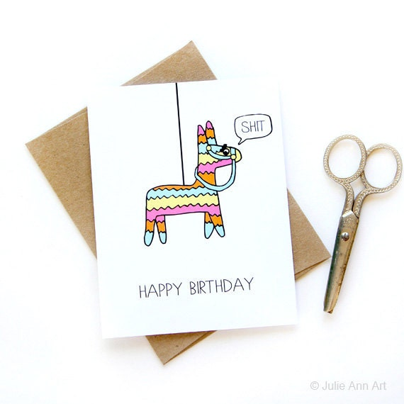 Funny Birthday Card Pinata Card